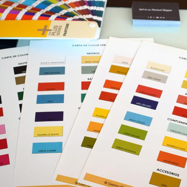 pack cartas de color