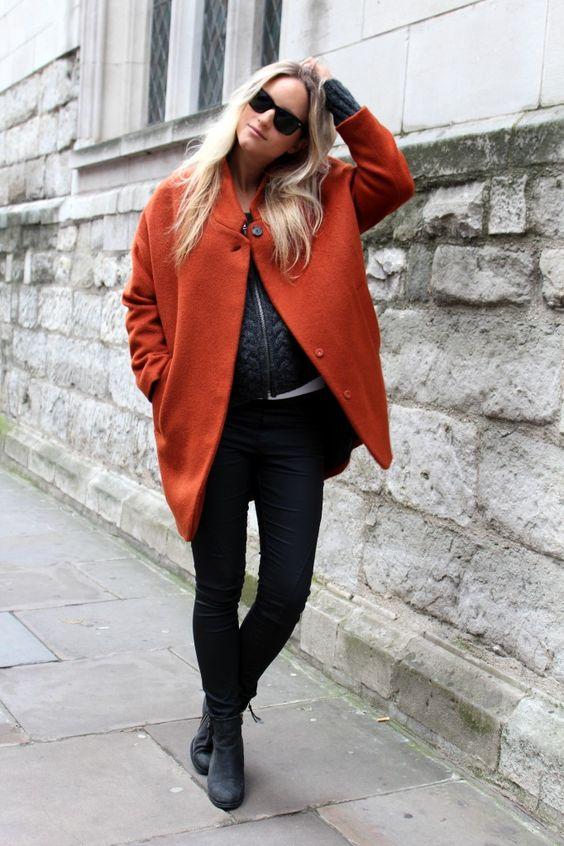 abrigo vintage en el embarazo