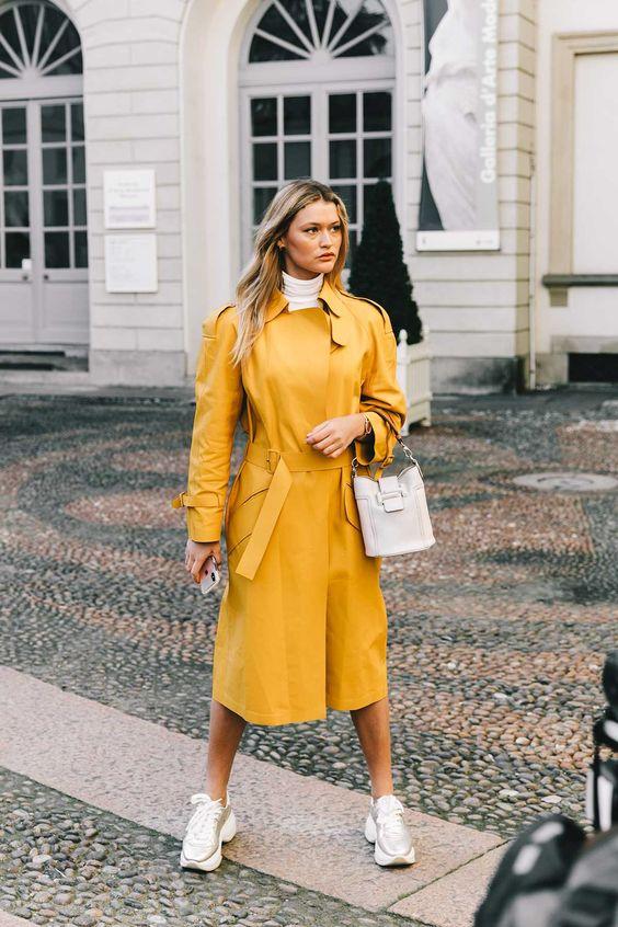 Personalitia - Gabardina amarilla