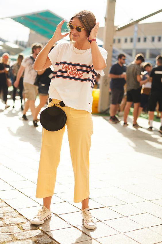 Personalitia - look casual en amarillo