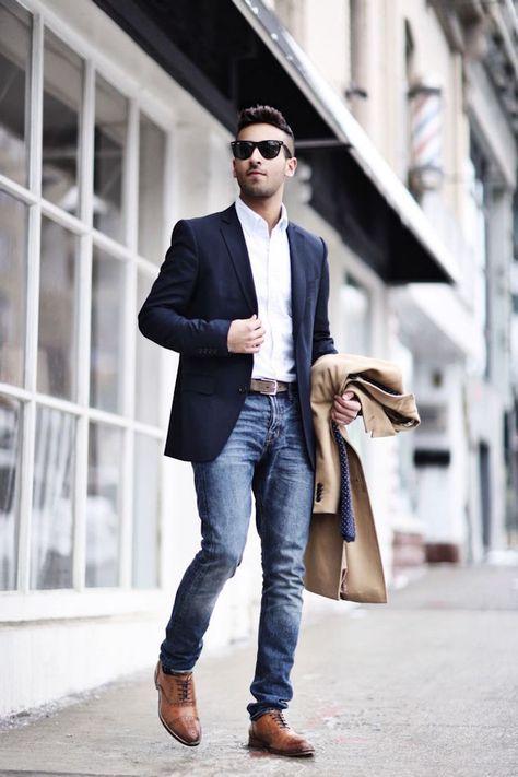 Blazer para moda masculina